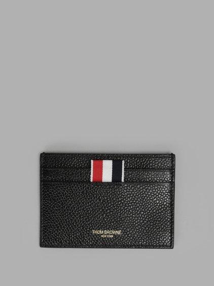 Thom Browne THOM BROWNE WOMEN'S BLACK CARD HOLDER WALLET