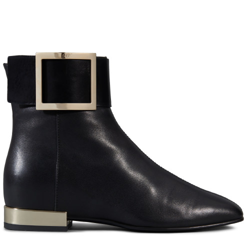 ROGER VIVIER Square Ankle Boots In Leather