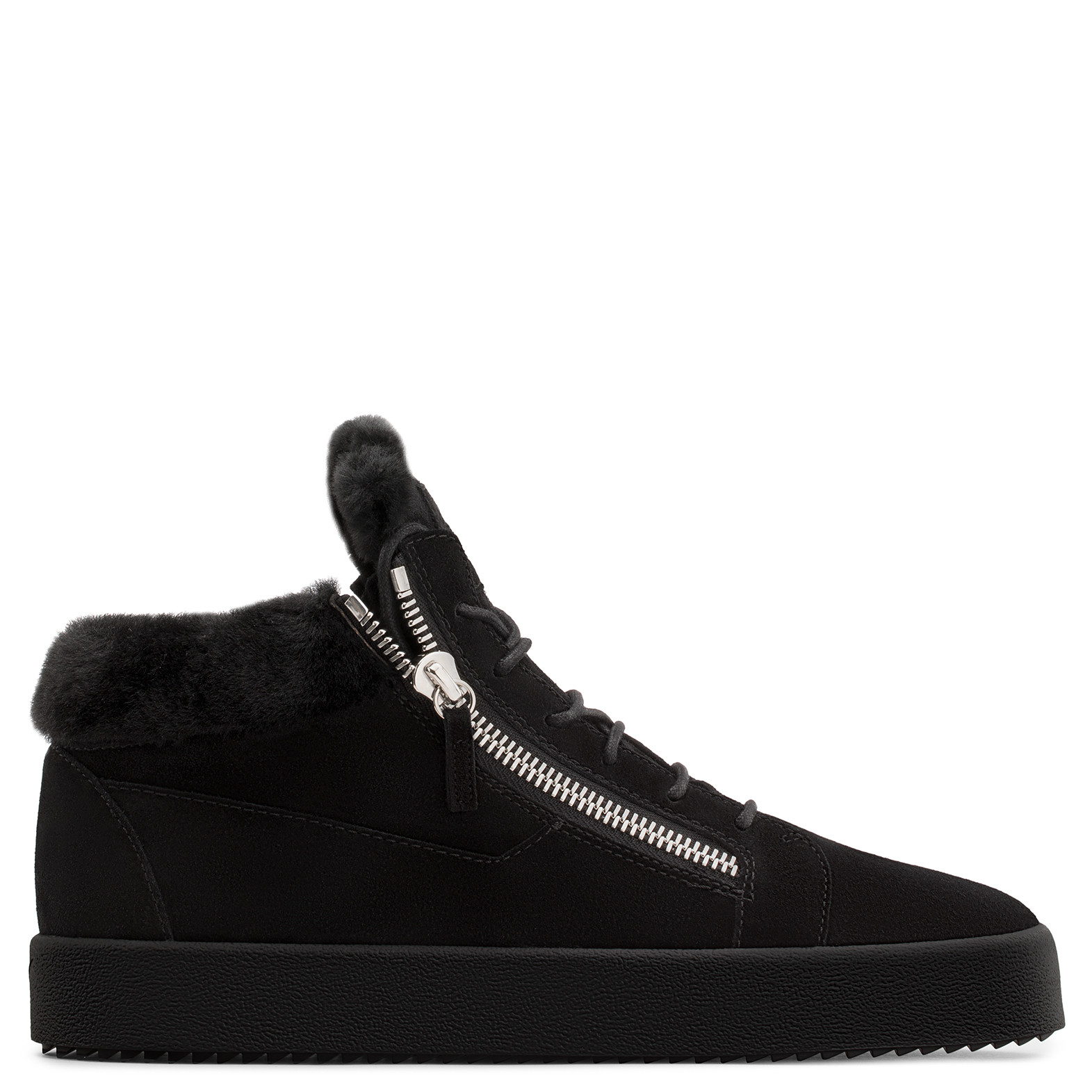 Giuseppe ZanottiUnfinished Collection: Dark mid-top sneaker THE UNFINISHED YjVgCnU