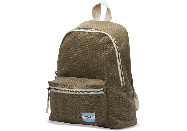 TOMS Olive Canvas Vivian Mini Backpack