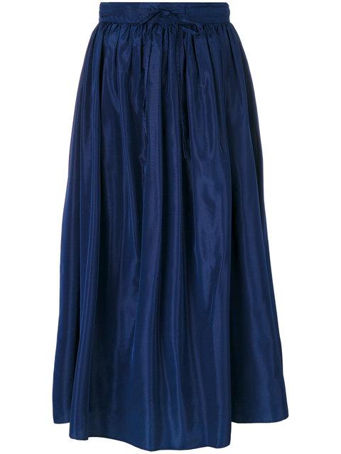 flared midi-skirt