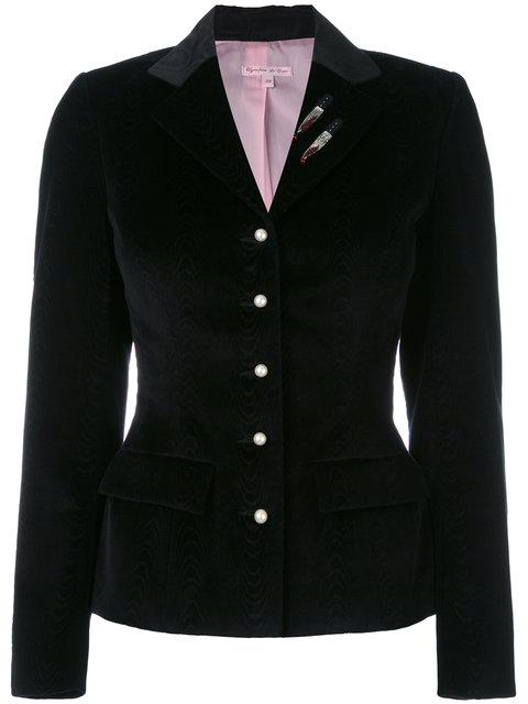 blazer with sequin appliqué
