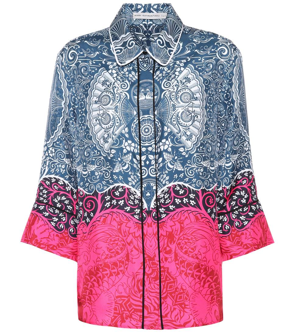 PRINTED STRAIGHT FIT SHIRT