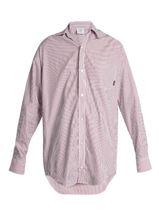 Vetements  Oversized striped-cotton shirt