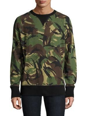 Rag & Bone  Allover Camo Cotton Sweater