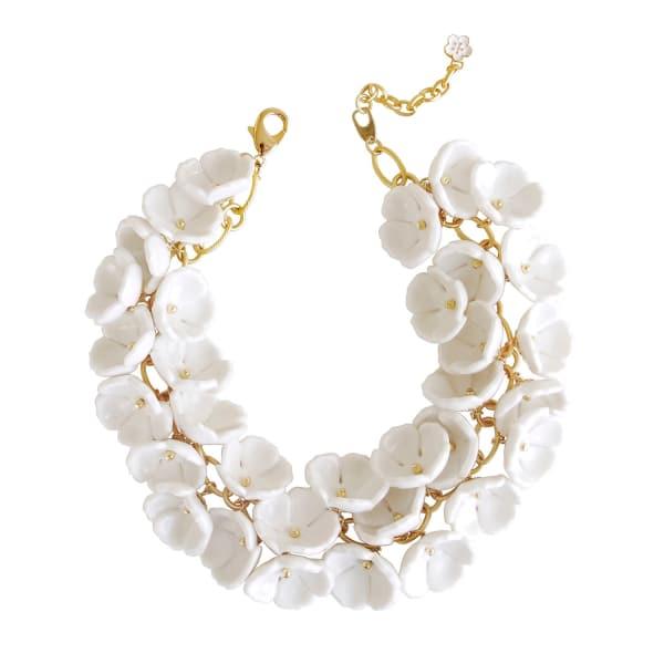POPORCELAIN Porcelain Plum Blossom Cluster Necklace