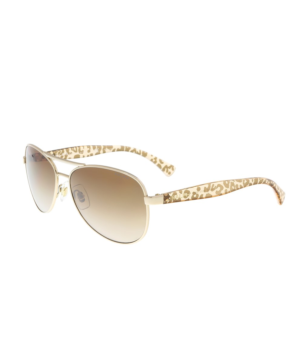 Ralph Lauren  RA4108 101/13 GOLD AVIATOR SUNGLASSES