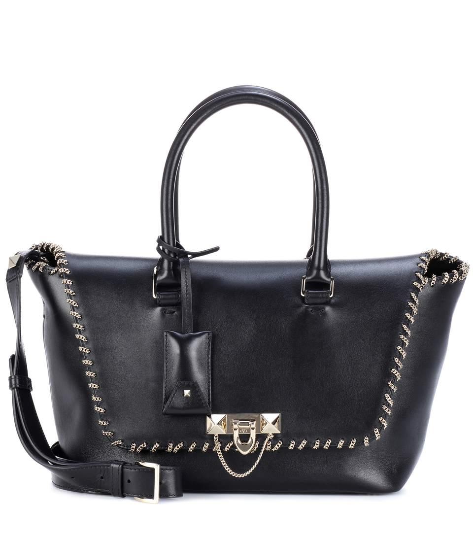 Valentino  Valentino Garavani embellished leather tote