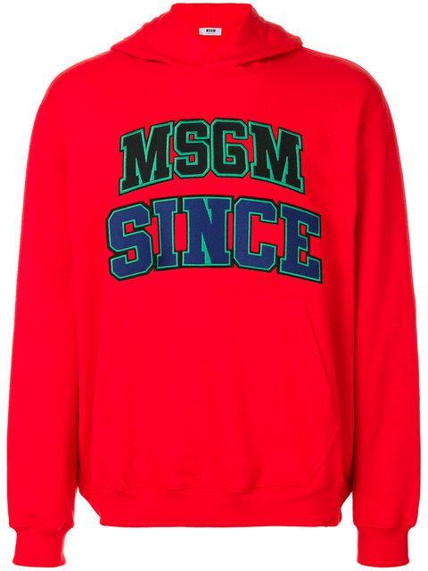 Msgm  MSGM LOGO PRINT SWEATSHIRT - RED