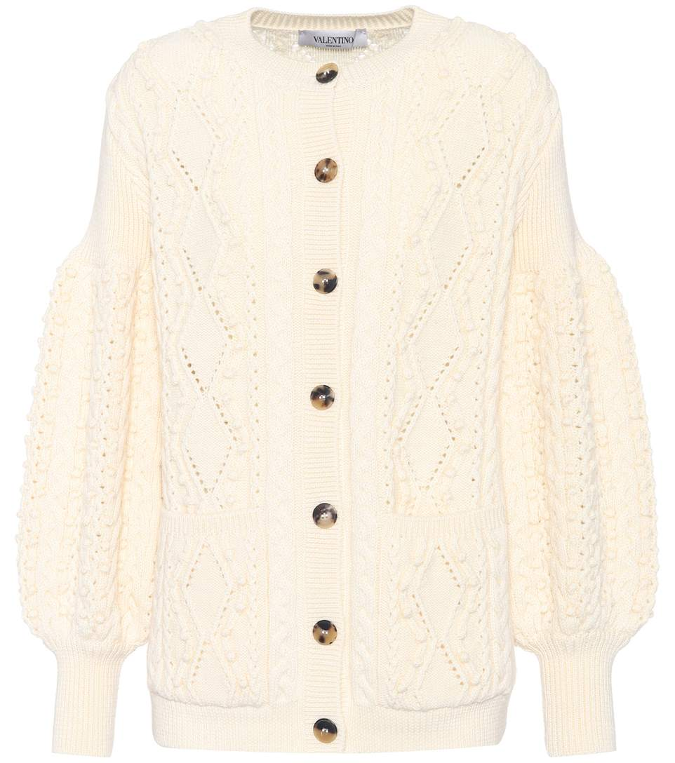 Valentino  KNITTED WOOL CARDIGAN