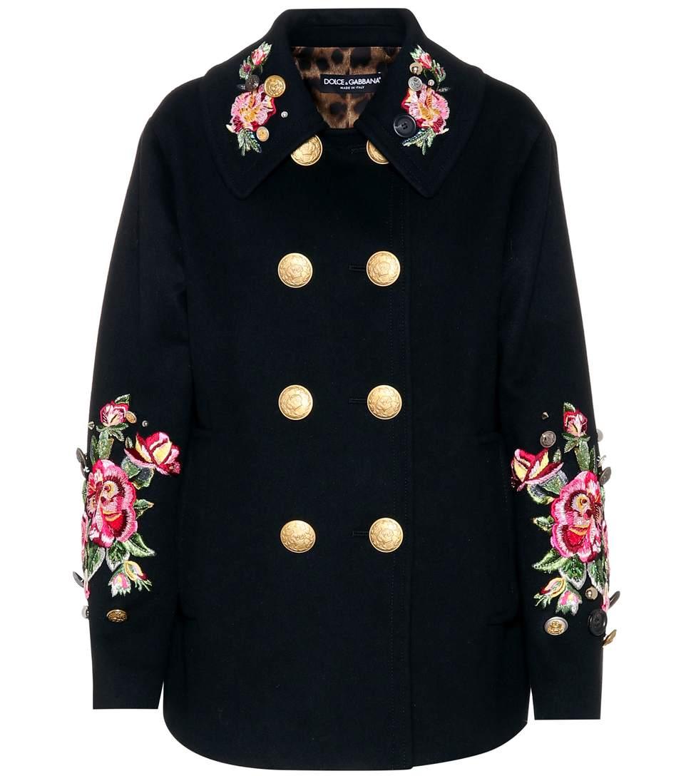 Dolce & Gabbana  Embellished wool and angora coat