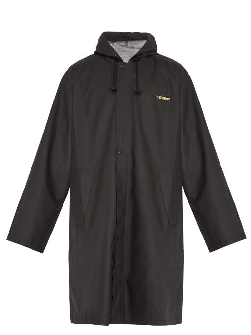 Vetements Hoodeds Oversized hooded raincoat