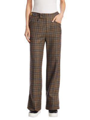 Marc Jacobs  Chain Link Wide-Leg Wool Pants