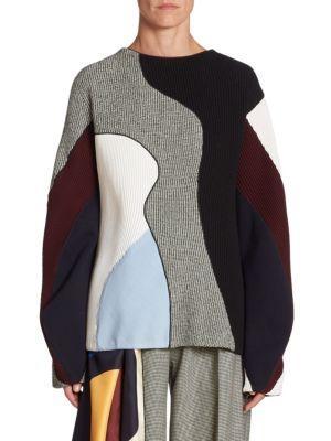 Victoria Beckham  Wool Colorblock Sweater