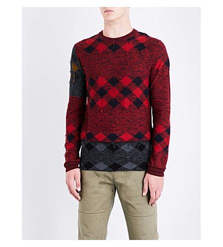 Lanvin  Patchwork wool jumper