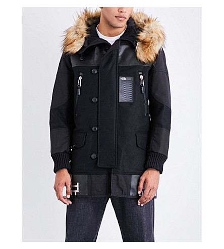 Junya Watanabe  JUNYA WATANABE X THE NORTH FACE WOOL-BLEND PARKA JACKET
