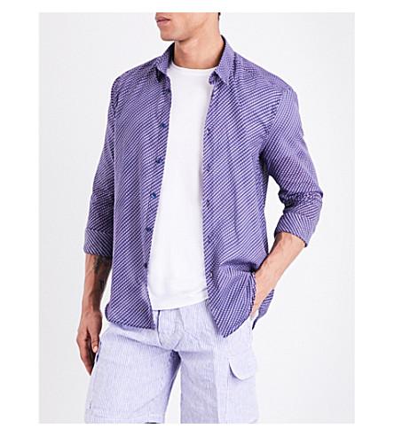 Vilebrequin  Caracal Fish Waves-print cotton-voile shirt