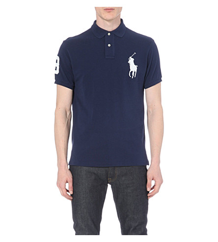Polo Ralph Lauren  Custom-fit cotton-mesh polo shirt