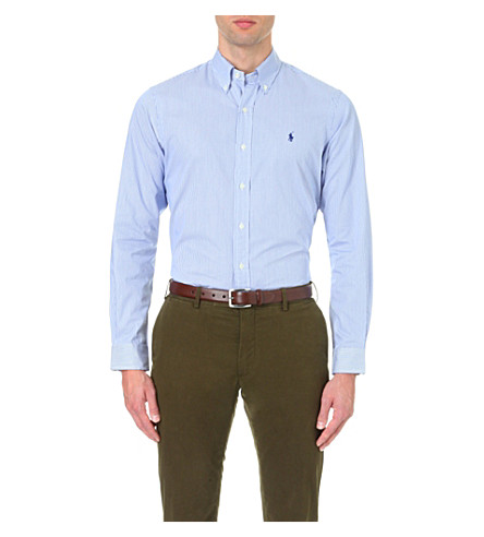 Polo Ralph Lauren  Standard-fit single-cuff striped cotton shirt