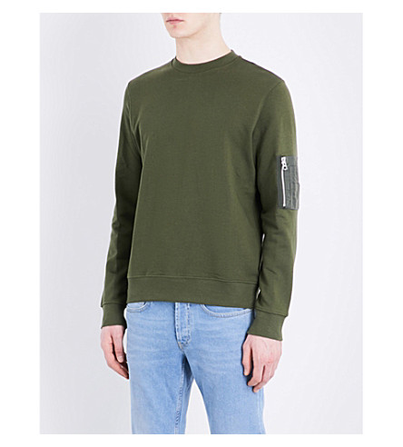 Sandro  Patch-pocket cotton sweatshirt