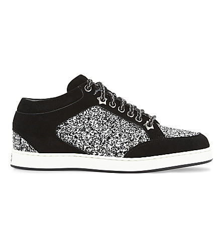 Jimmy Choo  Miami leather and glitter trainers