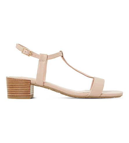 Dune  Issie T-bar leather sandals
