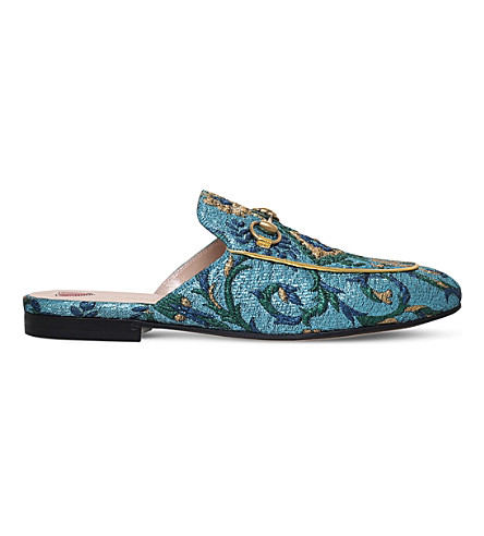 Princetown Chinoiserie jacquard slippers