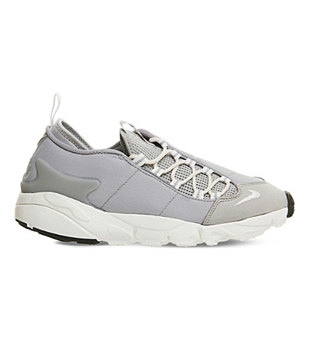 Air Footscape leather and mesh trainers