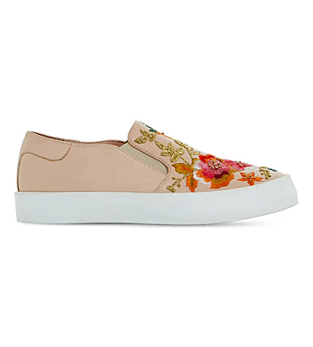 EVANNI EMBROIDERED LEATHER SKATE SHOES