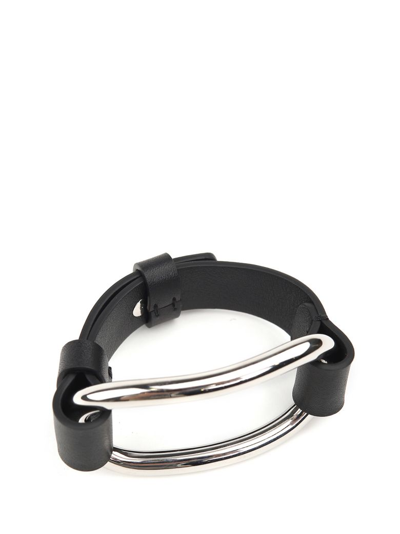 TOUCH SM METALLIC AND LEATHER BRACELET