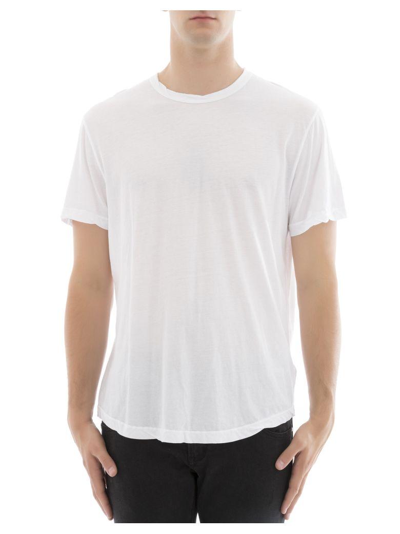 James Perse Cottons White Cotton T-shirt