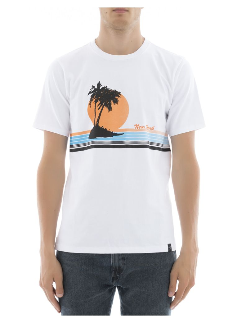 RAG & BONE Vacation Printed Cotton-Jersey T-Shirt in Bright White