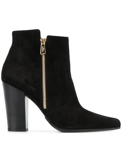 ANTHEA SUEDE POINT-TOE ANKLE BOOTS