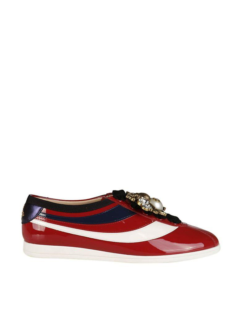 FALACER PATENT LEATHER SNEAKER WITH WEB