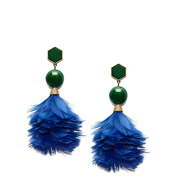 TORY BURCH Feather Drop Earrings Tuscan ModeSens