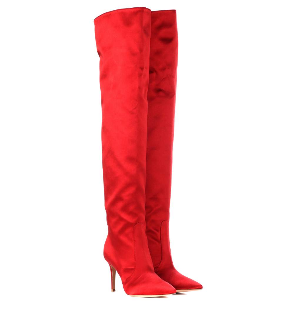 EXCLUSIVE TO MYTHERESA.COM - SATIN OVER-THE-KNEE BOOTS