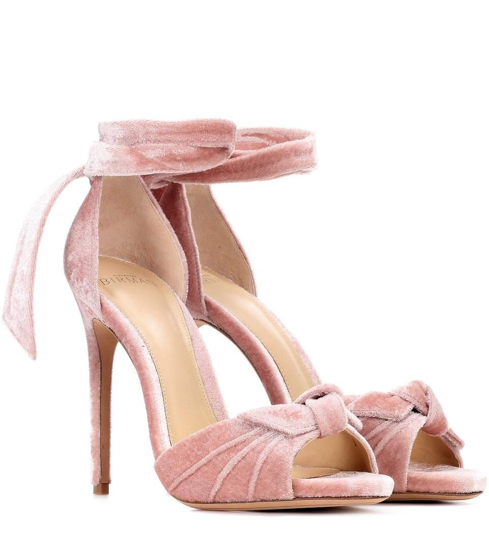 4c3d8c3f365 Jessica Velvet Sandals, Pink