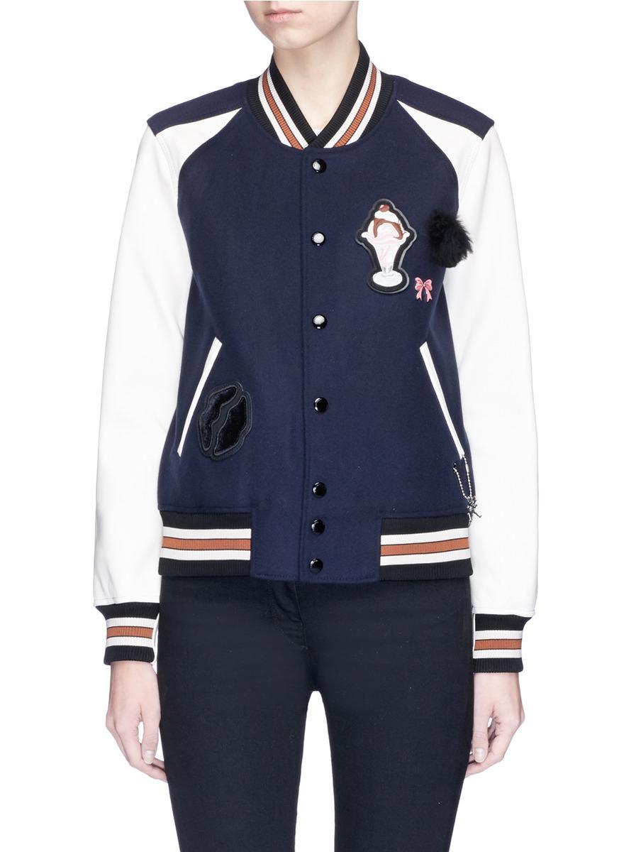 Assorted patch varsity jacket
