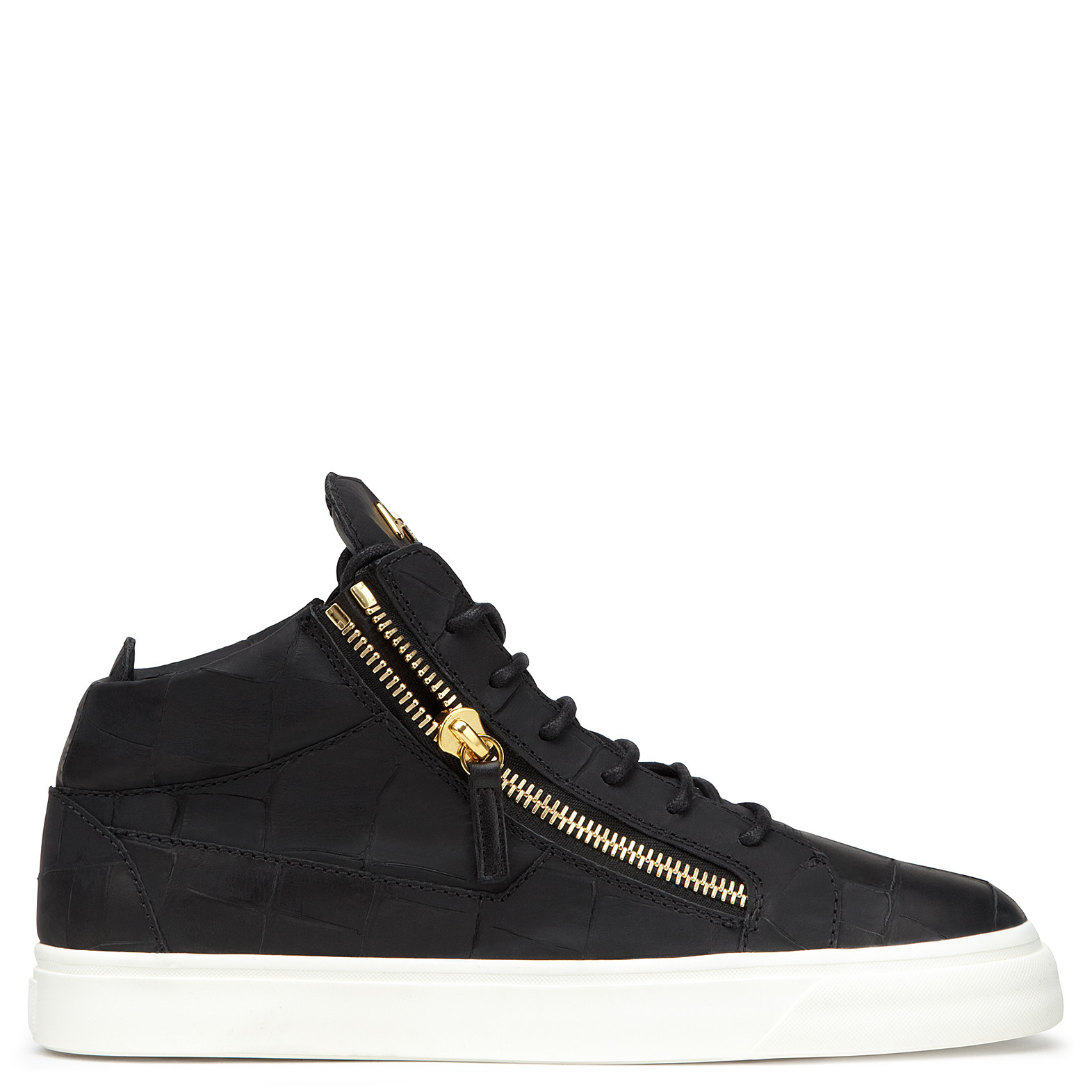 Giuseppe ZanottiCrocodile-embossed leather sneaker DANIEL DCjdJc