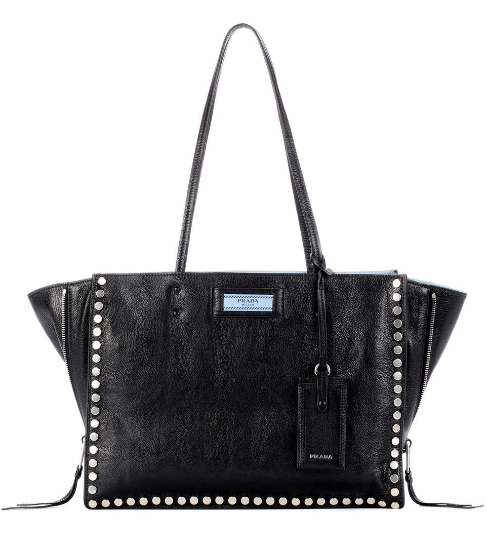 ETIQUETTE LEATHER TOTE