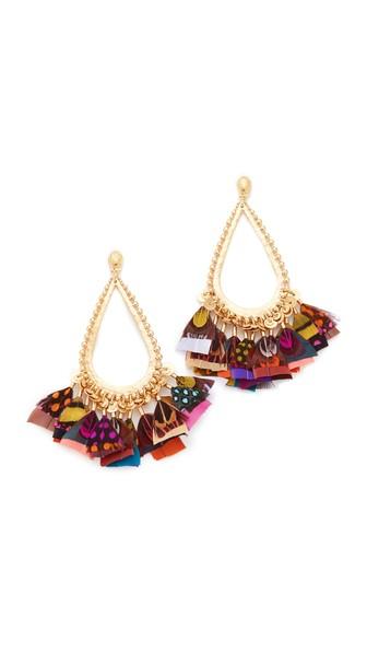 Bibi feather earrings