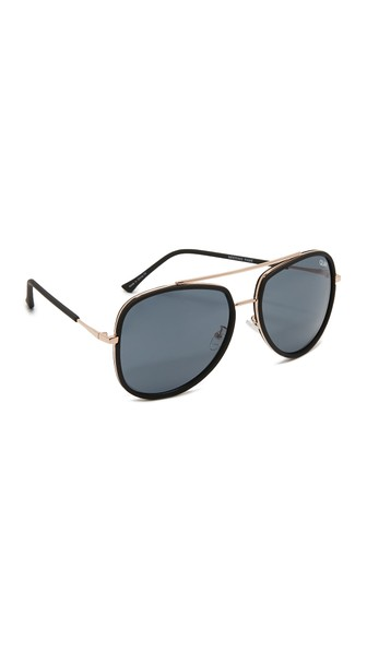 WOMEN'S NEEDING FAME BROW BAR AVIATOR SUNGLASSES, 60MM