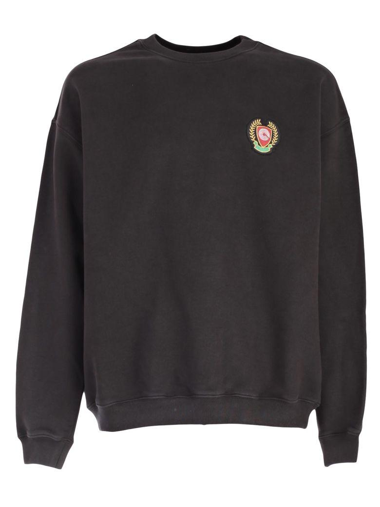 'Calabasas' print shield patch oversized sweatshirt