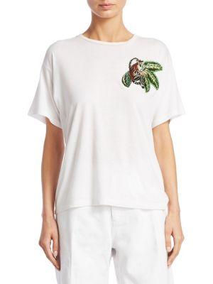 monkey embroidered T-shirt
