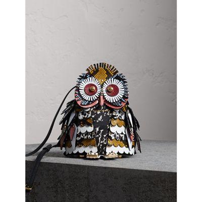 The Owl – Calf Suede and Calf Hair Crossbody Bag
