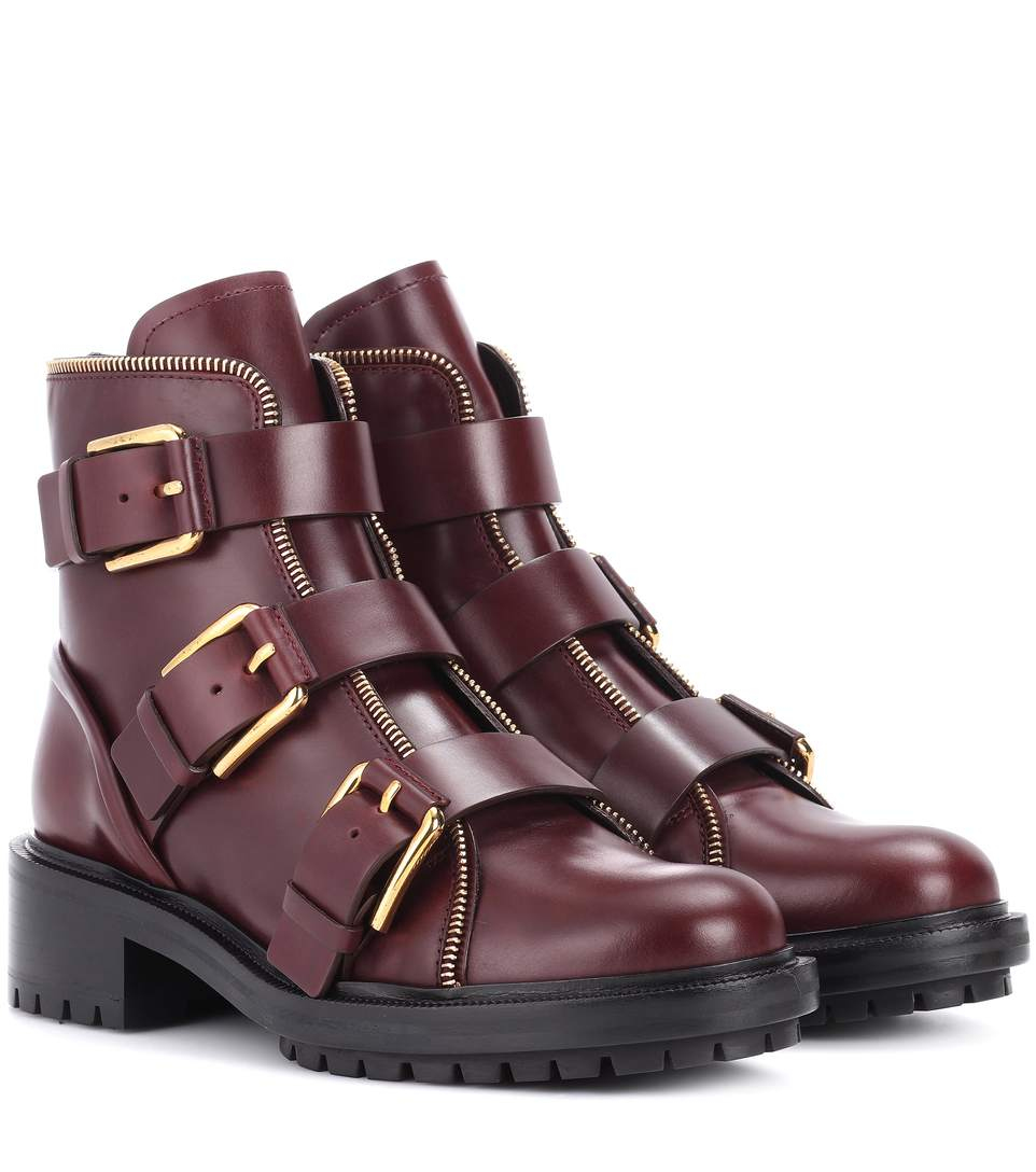 AMBRA LEATHER ANKLE BOOTS