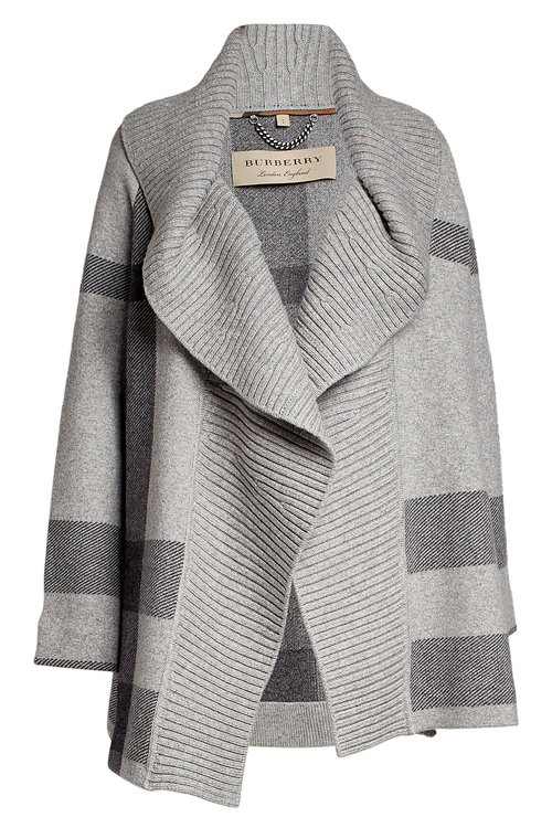 Burberry PRINTED CAPE WITH WOOL AND CASHMERE