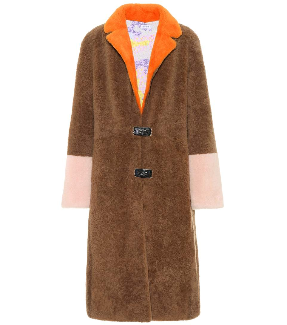 Saks Potts Febbe Flower shearling coat