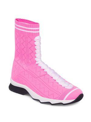 Fendi Sports Knit Sneaker Booties