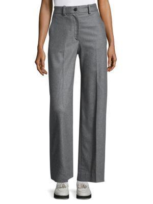 Crane High-Rise Wool-Blend Tailored Pants